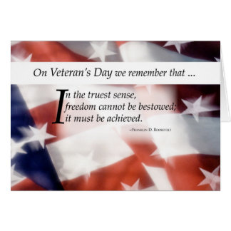 Veteran's Day Flag Card