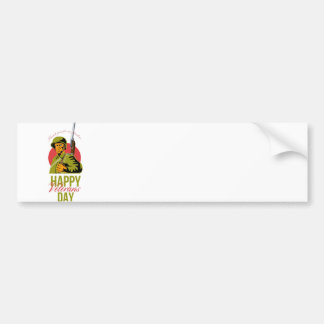 Veterans Day Greeting Card American WWII Soldier Bumper Sticker