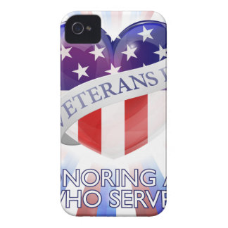 Veterans Day Heart Design iPhone 4 Case-Mate Case