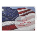 Veteran's Day Heart on Flag Greeting Cards