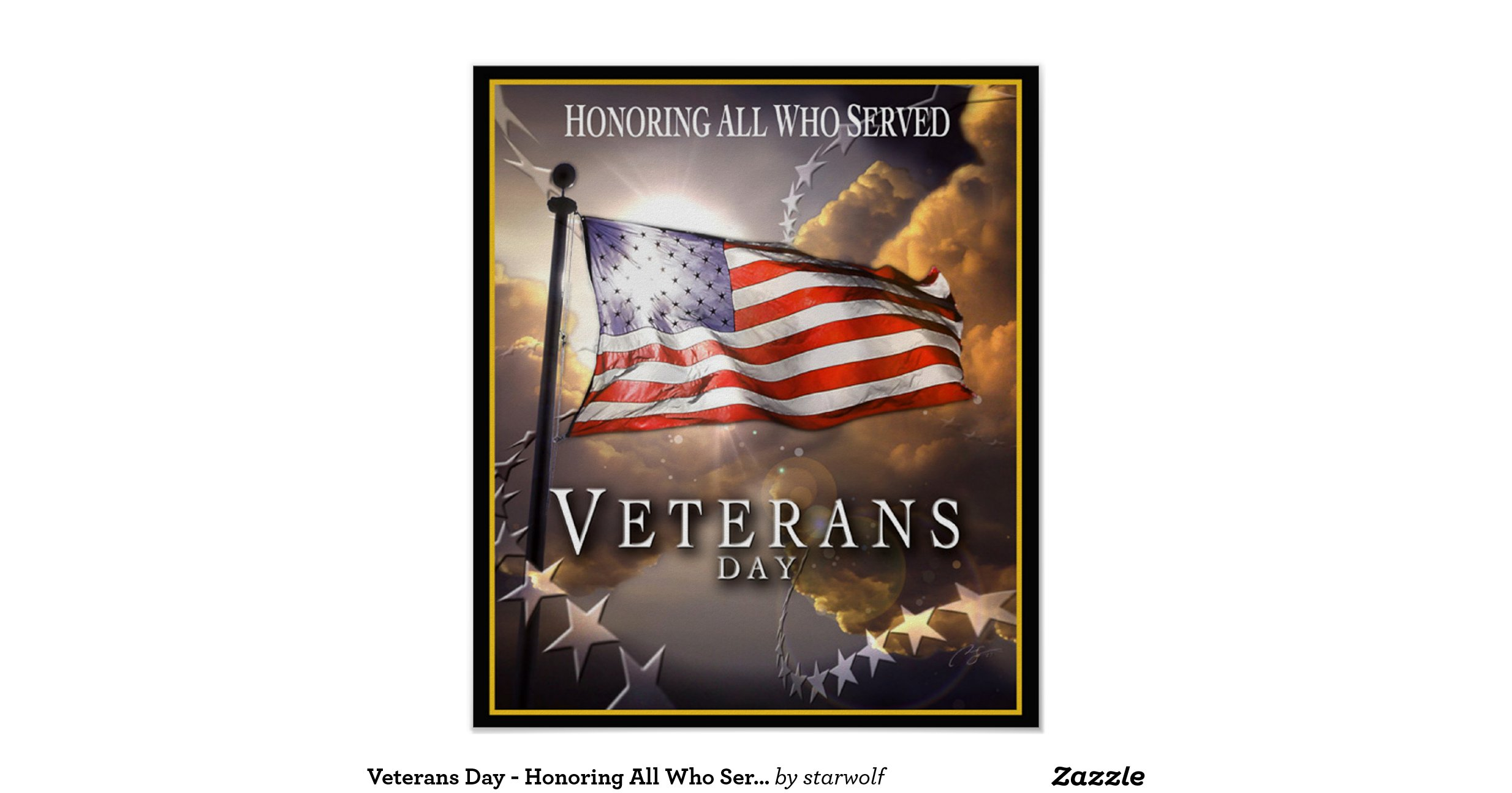 veterans day honoring all who served poster
