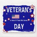 Veteran's Day - In Honor - Mousepad