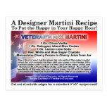 Veteran's Day Martini Recipe Postcard
