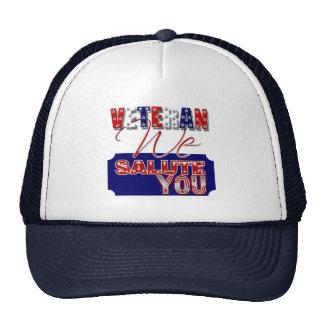 Veteran's day memorial war soldier trucker hat