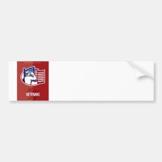 Veterans Day Modern American Soldier Card Bumper Sticker