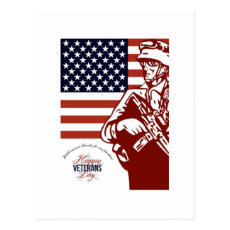 Veterans Day Modern American Soldier Card Postcards