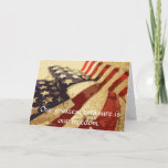 "Veteran&#39;s Day Our Greatest treasure greeting card<br><div class=""desc"">Thank our veterans with this American Flag &quot;Thank You&quot;! A simple message that lets our military men and women know we love them!!!</div>"