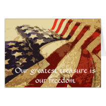 Veteran's Day Our Greatest treasure greeting card
