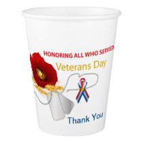 Veterans Day Paper Cup