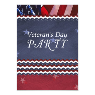 Veteran's Day Party Patriotic Card