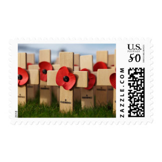 Veteran's Day Remembrance Cross Poppy WWII Stamp
