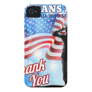 Veterans Day Silhouette Soldier Saluting American iPhone 4 Cover