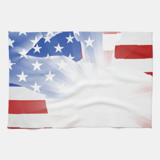 Veterans Day Soldier Saluting Hand Towels