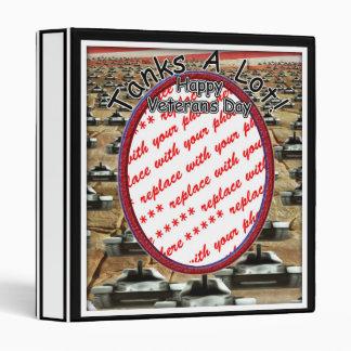 "Veterans Day - "" Tanks A Lot ""Photo Frame Vinyl Binder"