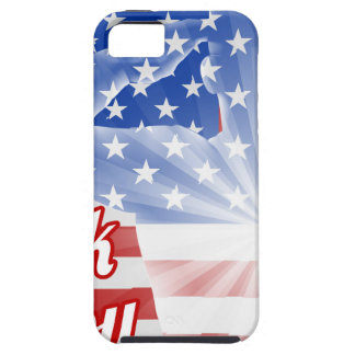 Veterans Day Thank You American Flag iPhone SE/5/5s Case