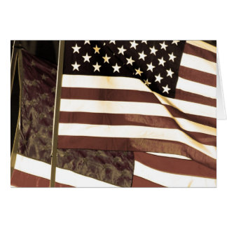 Veteran's Day Thank You for Your Service Flag Card