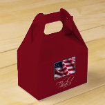 Veteran's Day Thank You, Patriotic American Flag Favor Box