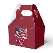 Veteran's Day Thank You, Patriotic American Flag Favor Box