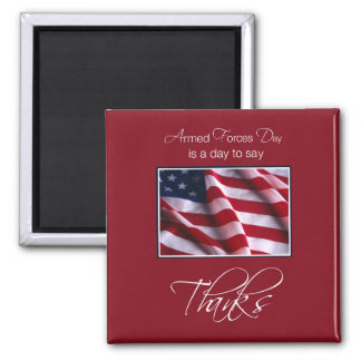 Veteran's Day Thank You, Patriotic American Flag Magnets