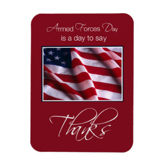 Veteran's Day Thank You, Patriotic American Flag Rectangle Magnets