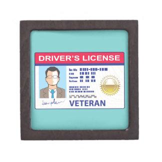 Veterans Driver's License Jewelry Box
