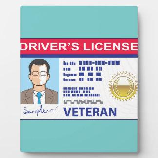 Veterans Driver's License Plaque