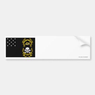 Veterans Exempt Flag Car Bumper Sticker