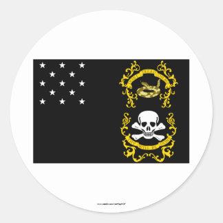 Veterans Exempt Flag Classic Round Sticker