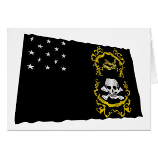 Veterans Exempt Flag Waving Flag Card