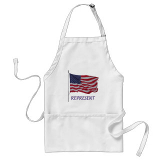 veteran's flag represent adult apron