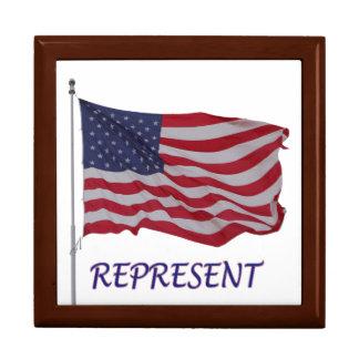 veteran's flag represent keepsake box