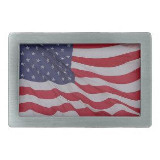 veteran's flag represent rectangular belt buckle
