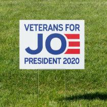 veterans for Biden Sign