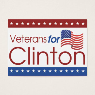 Veterans for Clinton Mini Cards