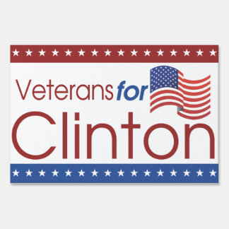 Veterans for Clinton Yard Sign