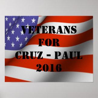 Veterans for Cruz-Paul 2016 Poster
