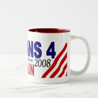 Veterans for McCain Palin 2008 Two-Tone Coffee Mug