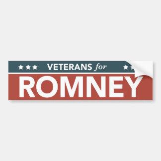 Veterans For Mitt Romney Ryan 2012 Bumper Sticker Car Bumper Sticker