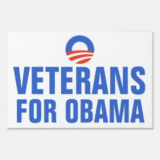 Veterans for Obama 2012 Sign
