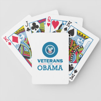 Veterans for Obama Bicycle Playing Cards
