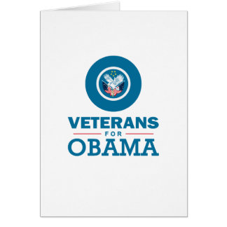 Veterans for Obama Greeting Card
