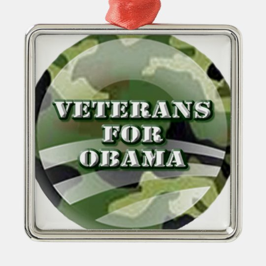 Veterans for Obama Metal Ornament