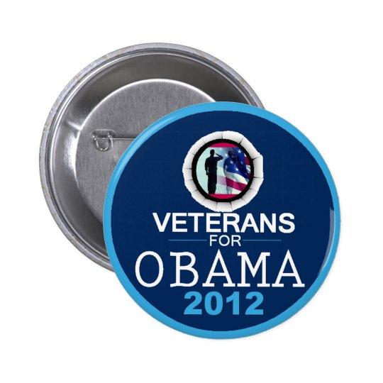VETERANS for OBAMA Pinback Button