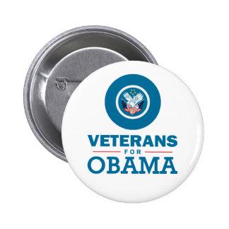 Veterans for Obama Pinback Button
