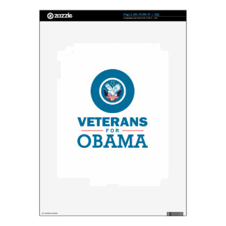 Veterans for Obama Decal For iPad 2