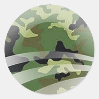 Veterans for Obama Round Sticker