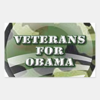 Veterans for Obama Rectangular Stickers