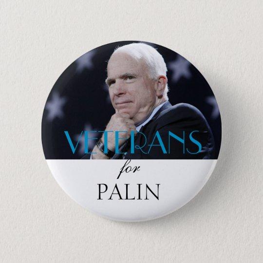 Veterans for Palin Pinback Button