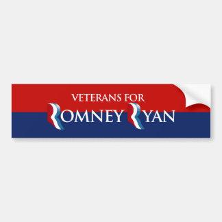 VETERANS FOR ROMNEY RYAN -.png Bumper Sticker