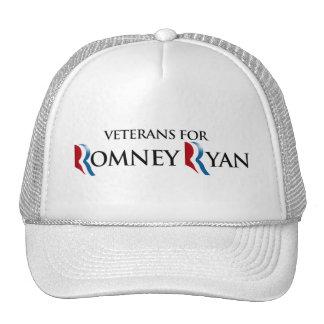 VETERANS FOR ROMNEY RYAN png Mesh Hats